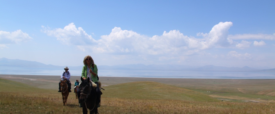 Horse riding to Son Kul Lake