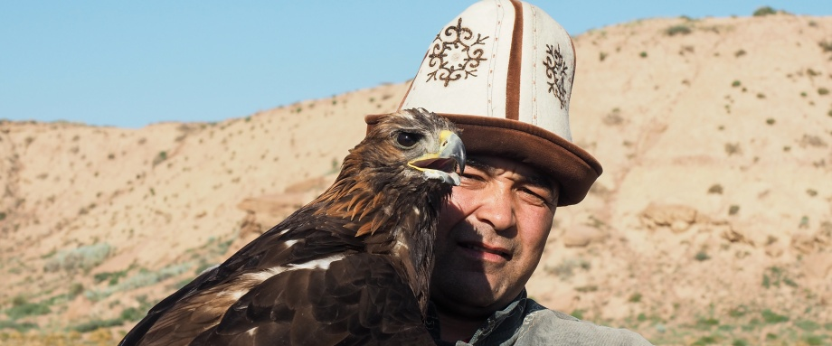 Eagle hunting show